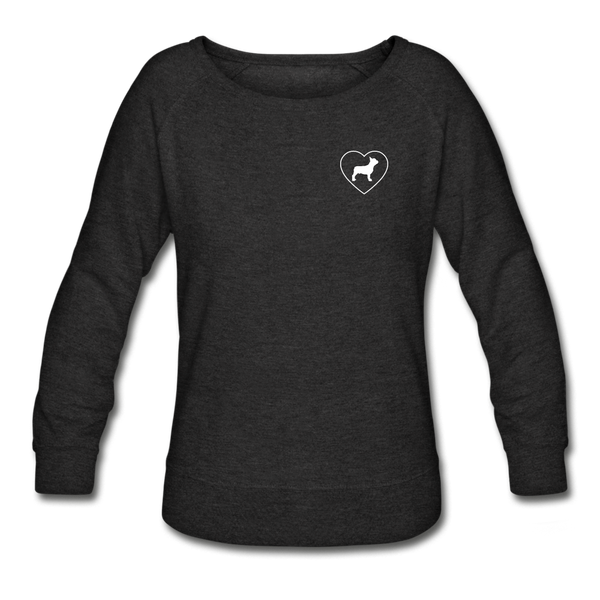 I Heart French Bulldogs! | Sweatshirt | Women - heather black