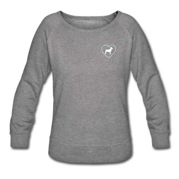 I Heart French Bulldogs! | Sweatshirt | Women - heather gray