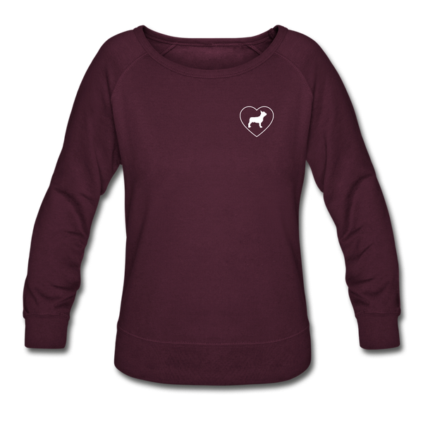 I Heart French Bulldogs! | Sweatshirt | Women - plum