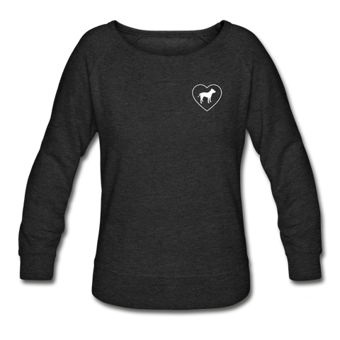 I Heart Pitbulls! | Sweatshirt | Women - heather black