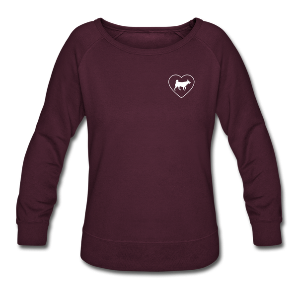 I Heart Huskies! | Sweatshirt | Women - plum