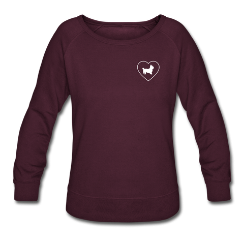 I Heart Yorkies! | Sweatshirt | Women - plum