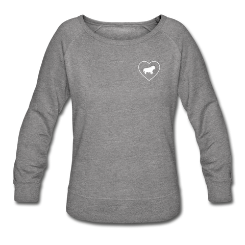 I Heart Pugs! | Sweatshirt | Women - heather gray
