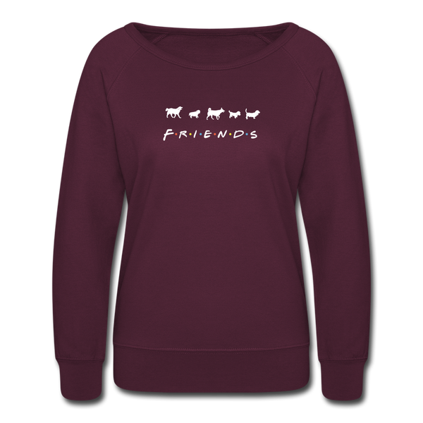The One With Your Pup | Sweatshirt | Women - plum