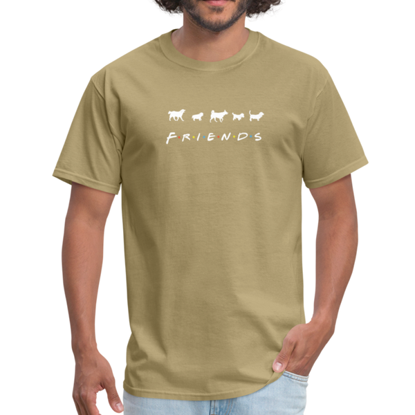 The One With Your Pup | Comfort Tee | Men - khaki