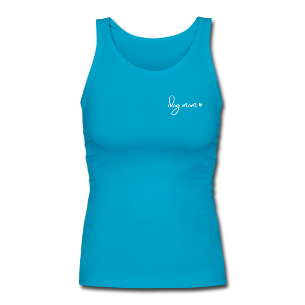 Dog Mom | Comfort Tank Top | Women - turquoise