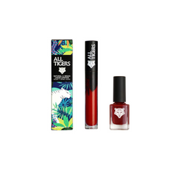 Dúo All Tigers: Live Fearless 887 & Play with Fire 207: labial + esmalte