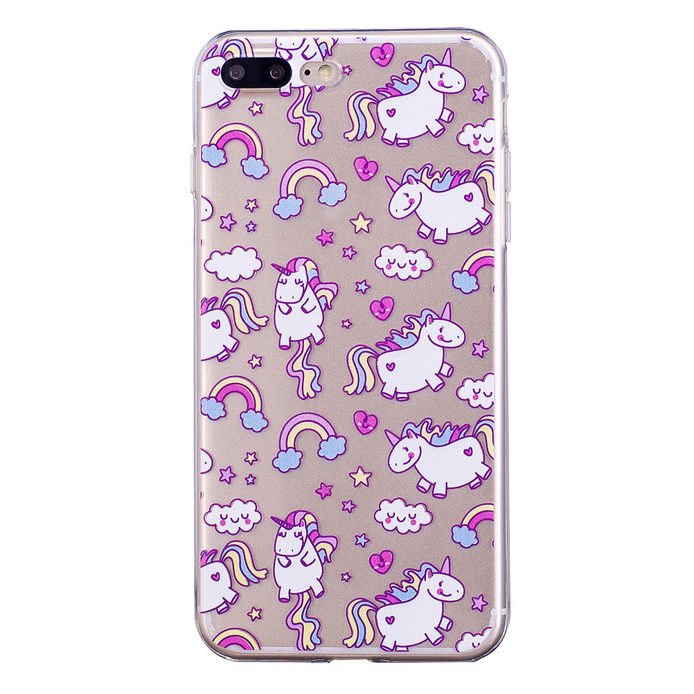 H-e-r-e-N-T-h-e-r-e - H-e-r-e-N-T-h-e-r-e, phone cover - cell phone covers, cartoon unicorn soft phone case for iPhone - wodden case