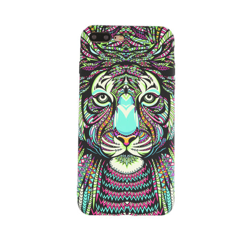 H-e-r-e-N-T-h-e-r-e - H-e-r-e-N-T-h-e-r-e, phone cover - cell phone covers, Tiger Painting Phone Case for iPhone - wodden case