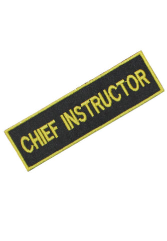 Embroidered Chief Instructor Badge