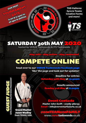 ONLINE VERVE Martial Arts Competition - Saturday 30th May 2020