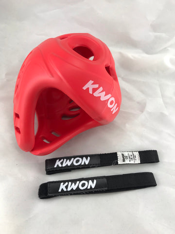 SMALL / MEDIUM red Kwon Shocklite Head Guard