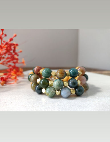 Palo Santo and Fancy Jasper Bracelet