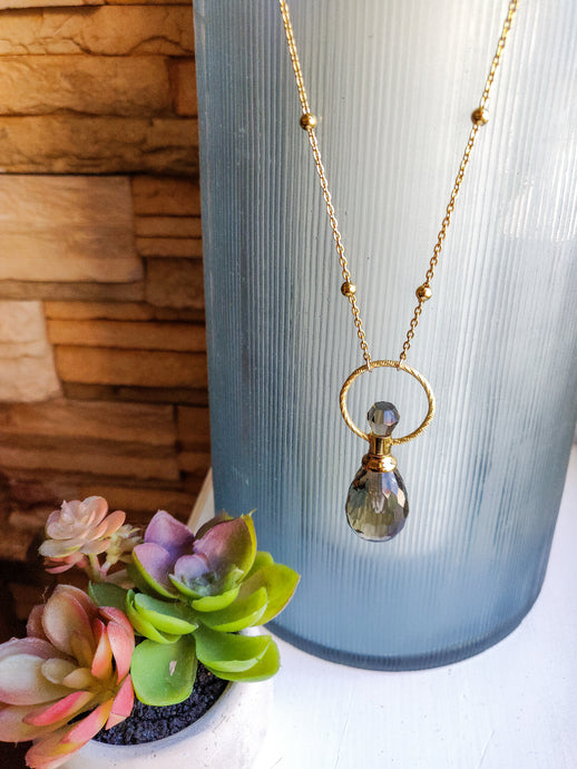 Essential Oil Vial necklace - ion plated