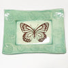 Handmade tray by Lorraine Oerth with butterfly design