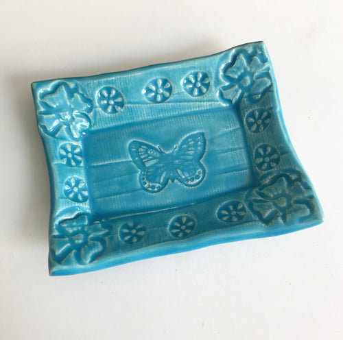 Cute Little Soap Dish - Butterfly  - Stock Colors
