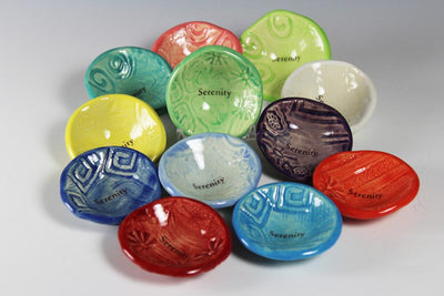 Giving Bowls by Lorraine Oerth are available in 12 colors.