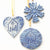 Nativity Ornaments in Heart & Round shapes and Snowflake Ornaments