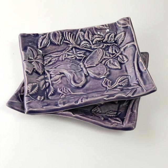 Butterfly Design Soap Dish by Lorraine Oerth