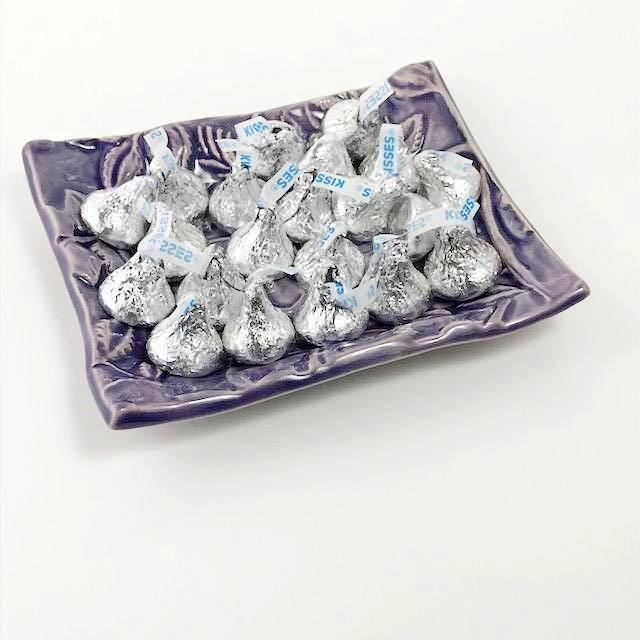 Butterfly Design Dish filled with Hersheys Kisses