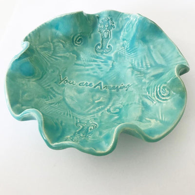 Bowl with Mermaid by Lorraine Oerth