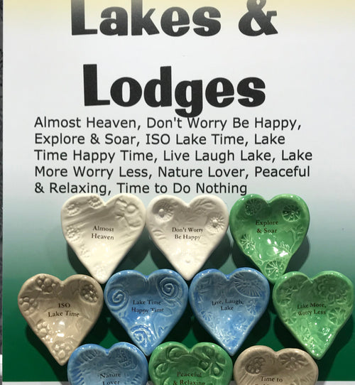"Giving Bowls & Giving Hearts - Essentials ""Lakes & Lodges"" - 10 pieces"