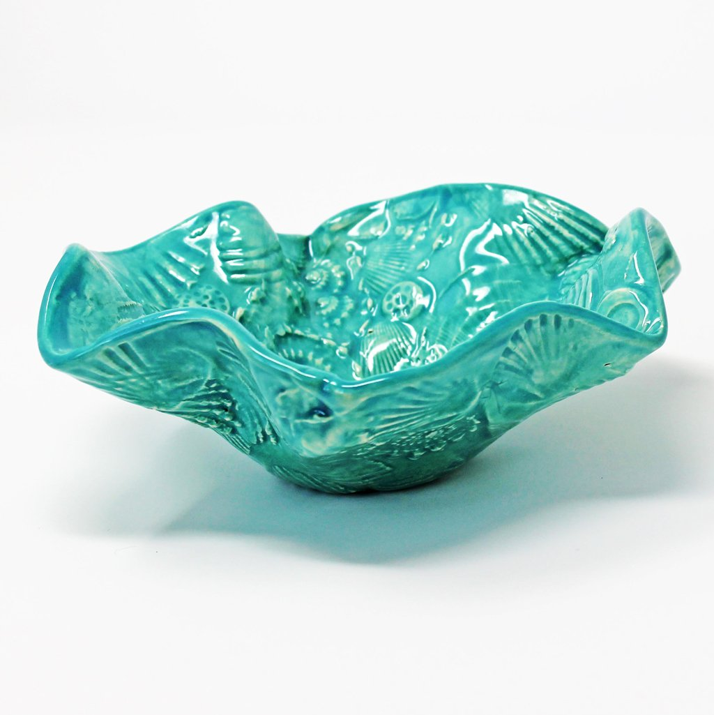 Wavy Bowl in Ocean Pattern