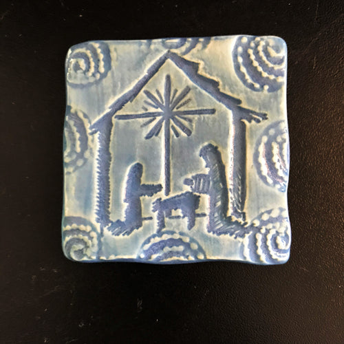 "Magnet - ""Nativity"" - Nautical Blue"