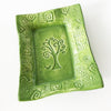 Tree of Life Design by Lorraine Oerth on her ceramic green tray.