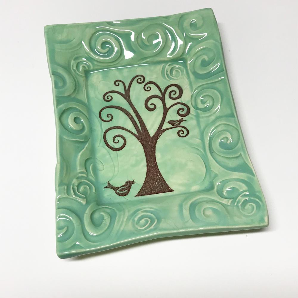 Oerth Studio handmade tray by Lorraine Oerth in Tree of Life Design
