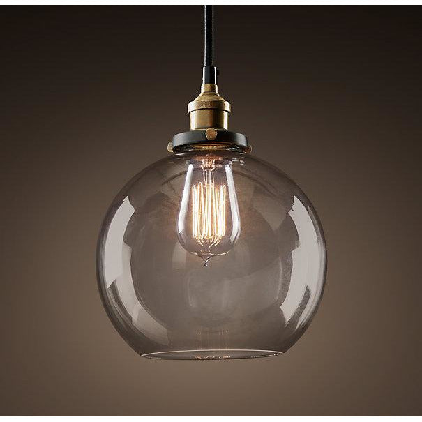 Latoya 1-light Clear Glass 8-inch Edison Pendant with Bulb
