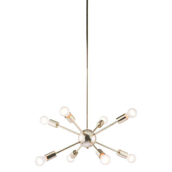 Gold Electroplated Metal Ceiling Lamp