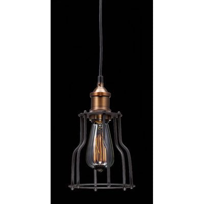 Black And Copper Metal Ceiling Lamp
