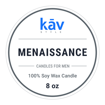 Menaissance Candle - Mahogany with Bourbon