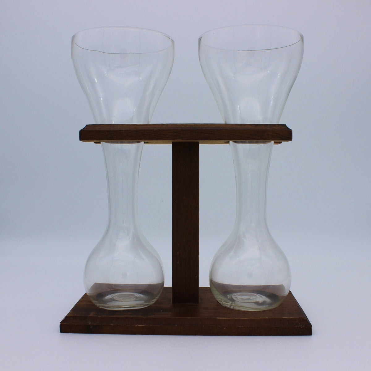 Quarter Yard Beer Set with Wood Stand (VINTAGE)