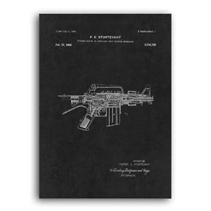 Machine Gun Patent Painting