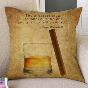 Vintage Cocktail Throw Pillow Covers
