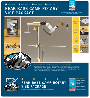 PEAK Mid Price Fly Tying PEAK Base Camp Package with C-Clamp