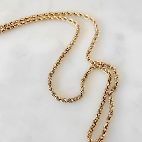 Phoebe 24K Mini Rope Chain