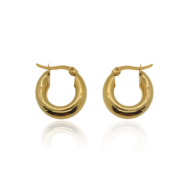 Ares Gold Hoops
