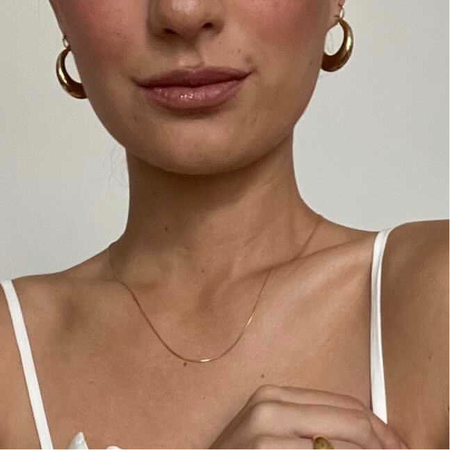 The Graces Classic Gold Hoops