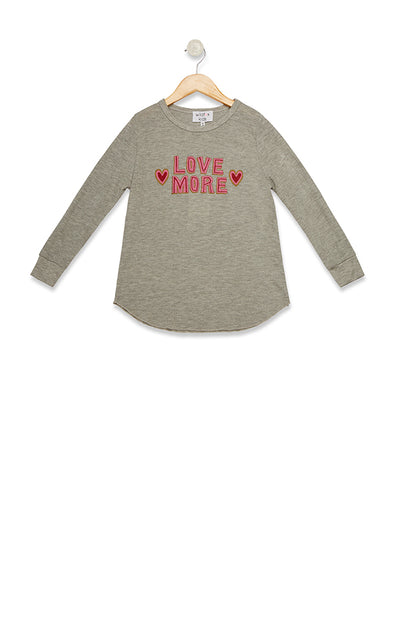 Kids Love More Girlfriend Thermal  | Heather