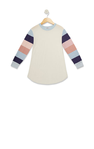 Littlefox Banded Sleeves Girlfriend Thermal  | Vanilla Powder