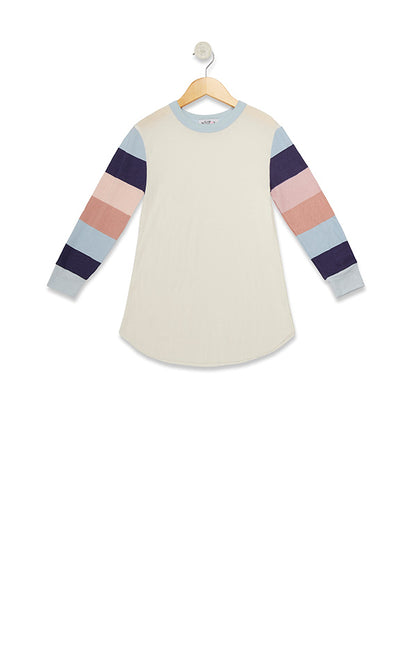 Kids Banded Sleeves Girlfriend Thermal  | Vanilla Powder