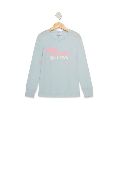 Littlefox Girl Power Love Longsleeve Crew | Powder