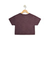 Littlefox Boxy Crop Kind is Cool | Plum