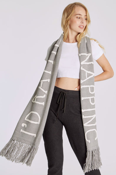 Nap Time Chain Link Scarf | Grey
