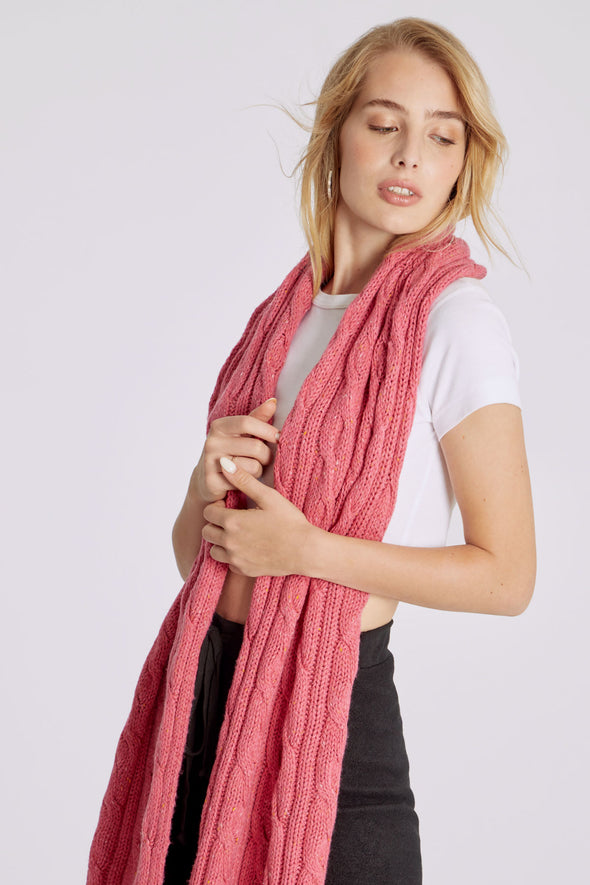 At Brunch Blanket Scarf | Doll Pink