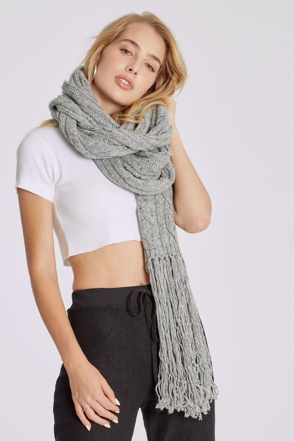 At Brunch Blanket Scarf | Fleckled Grey
