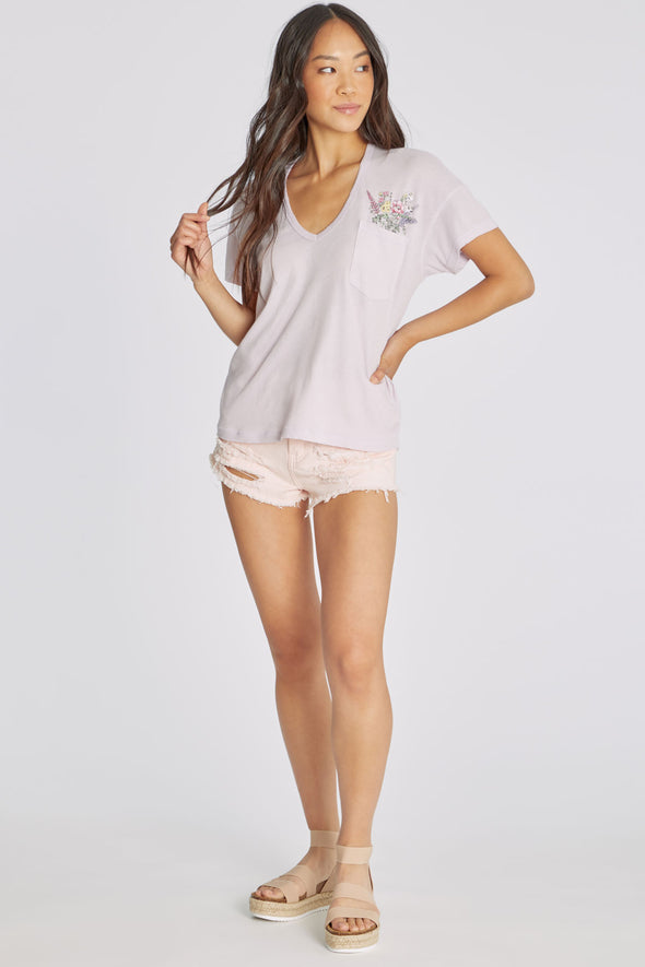 Pocket Posies Chrissy Tee | Orchid Hush